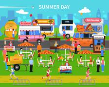 Summer Day Background Stock Illustration