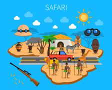 Safari Concept Illustration Stock Illustration