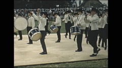 Vintage 16mm film, 1960, France, Lorient Festival band and dancing Stock Footage