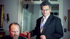 Business man talking speaking phone Arkistovideo