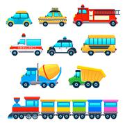 Stock Illustration of Funny vehicles