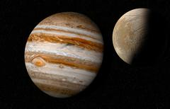 Jupiter with moon europa Stock Illustration