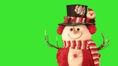 Green screen Christmas postcards Stock Footage