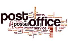 Post office word cloud concept - stock illustration