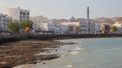 Waterfront of Muttrah, Oman - stock footage
