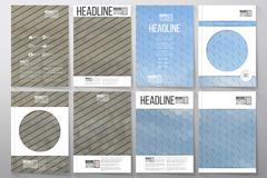 Business templates for brochure, flyer or booklet. Dry land and blue sky with - stock illustration