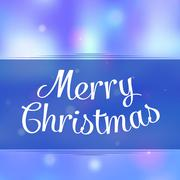 Merry christmas greeting background with holiday message - stock illustration
