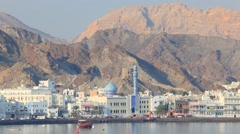 Skyline of Muttrah, Oman - stock footage