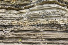 Sedimentary Rock (Pyroclastic deposit) Stock Photos