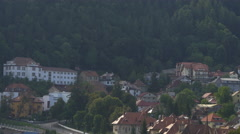 Old buildings seen from above, Brasov Stock Footage