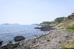 Landscape of Olle walking path No. 12 course - stock photo