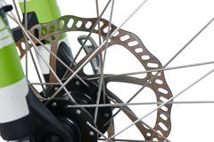 hydraulic disk brake rotor of MTB - stock photo