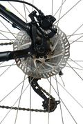 rear hydraulic disk brake - stock photo