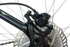 Rear hydraulic disk brake Stock Photos