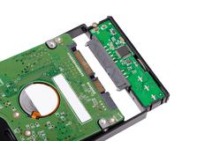 install HDD to external enclosure case - stock photo