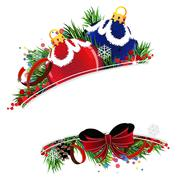 Christmas ornaments - stock illustration