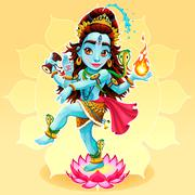 Dance of Shiva - stock illustration