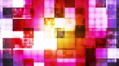 Twinkling Hi-Tech Squared Light Patterns 06 Stock Footage