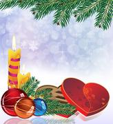 Christmas sparkling background - stock illustration