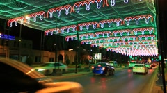 Street in Muscat at night Stock Footage