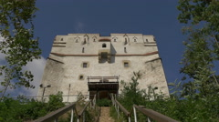 Sliding scale to White Tower, Brasov Stock Footage