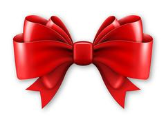 Big red bow - stock illustration