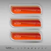 Business banners. Vector design elements for infographics. - stock illustration