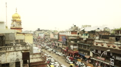 Chandni Chowk Traffic Timelapse Stock Footage