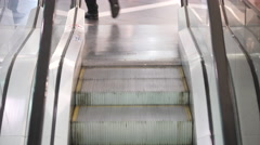 Movement  down the escalator. Stock Footage