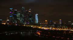 Aerial view of Moscow City - stock footage