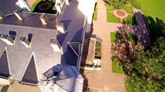 Aerial shot of Alatskivi manor in Estonia Stock Footage