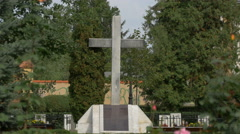 Monument of the heroes from Revolution of December 1989, Brasov Stock Footage