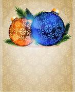 Christmas Tree Ornaments - stock illustration