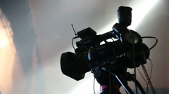 Video camera unit on rock concert Stock Footage