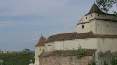 Part of the Citadel of The Guard, Brasov Stock Footage
