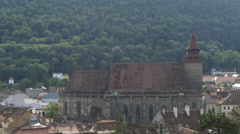 Black Church and the surroundings in Brasov Stock Footage