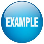 Example blue round gel isolated push button Piirros