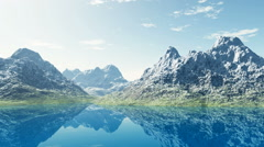 Mountain lake in Alps Stock Footage