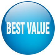 best value blue round gel isolated push button - stock illustration