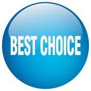 best choice blue round gel isolated push button - stock illustration