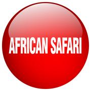 african safari red round gel isolated push button - stock illustration