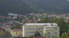 Part of Brasov city seen from above, Brasov Stock Footage