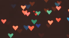 Heart bokeh background Stock Footage