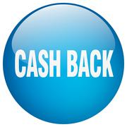 Stock Illustration of cash back blue round gel isolated push button