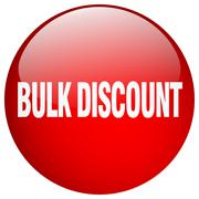 bulk discount red round gel isolated push button - stock illustration