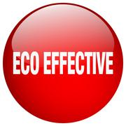 eco effective red round gel isolated push button - stock illustration