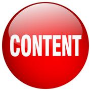 content red round gel isolated push button - stock illustration