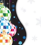 Glittering tree decorations - stock illustration