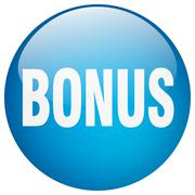 Bonus blue round gel isolated push button Stock Illustration