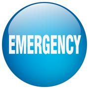 Stock Illustration of emergency blue round gel isolated push button